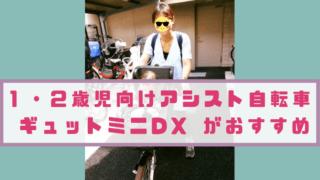 1・2歳児向けのアシスト自転車はギュットミニDXがおすすめ